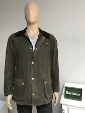 Barbour ASHBY Olive Green Men's Waxed Wax Cotton Jacket Coat Medium M 40 - £209