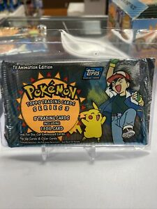 2000 Pokemon Topps TV Animation Series 3 Sealed Booster Pack Unopened Ash Pikach