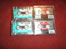 Lot of 4 Micro Cassettes Sony & Maxwell