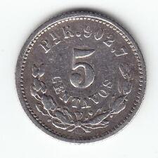 MEXICO 5 centavos 1888-Pi KM398.9 Ag.903 San Luis Potosi ABOVE AVERAGE - RARE !