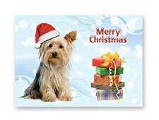 YORKSHIRE  TERRIER CHRISTMAS CARD with Xmas hat
