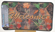 "17.7"" x 30"" Indoor/Outdoor Camouflage Welcome Door Mat"