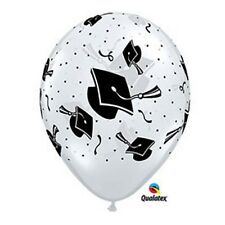 Party Decorations Supplies Graduation Hats Black on Diamond Clear Balloons pk 10