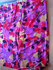LARGE FLORAL PRINT SHEER SMOOTH PURE SILK  DRESS FABRIC