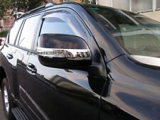 2 Pcs Chrome Side Rear View Mirror Trim Garnish for Toyota Prado 150 2009-2017