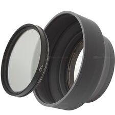 67mm CPL Filter Polfilter Zirkular & Sonnenblende Gummi Einschraubanschluss