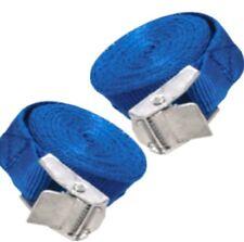 2 x blu Cam Buckle TIE DOWN Cargo Lash Cinghie 2.5 mx25mm resistente alle intemperie Cinturino