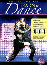 Learn to Dance Collection Set (DVD 9-Disc) Samba Tango Foxtrot Salsa Rumba Mambo
