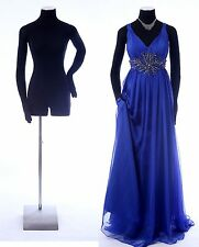 """Female mannequin 34/26/35"""" with flexible arms,hands, black dress form-RH"""
