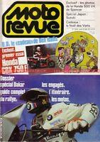 MOTO REVUE 2634 KAWASAKI KX 80 125 500 KR 250 HONDA CBX 750 SUZUKI RG DAKAR 1983