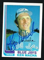Ken Macha #282 signed autograph auto 1982 Topps Baseball Trading Card