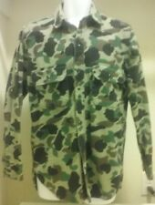Abercrombie & Fitch Mens Medium Army Green L/S Camo Shirt Hunting Shooting