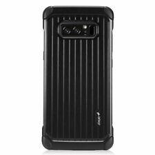 For Samsung Galaxy Note 8 Black Carry On Hard Hybrid Plastic Case Cove