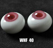 Nice Pink Iris&Deep Pink Pupil 18mm Glass Eyes for Joint Reborn/NewBorn BJD Dol