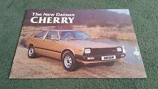 DATSUN CHERRY COUPE HATCHBACK ESTATE February 1981 UK BROCHURE Carnell Doncaster