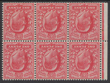 MB5a Booklet Pane Wmk Inv  good perfs though partially trimmed , unmounted mint.