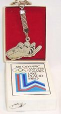 1980 LAKE PLACID WINTER OLYMPIC MASCOT RONI TWO MAN BOBSLED KEY CHAIN  #2026