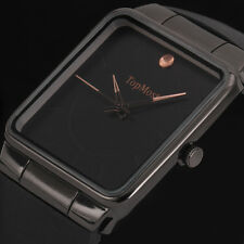 New Ultra Thin Black Silicone Strap Men's Sport Quartz Military Army Wrist Watch