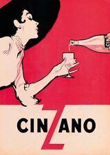 COLLEZIONISMO CINZANO VINTAGE poster art print 50 x 70 BAR cimeli PICTURE
