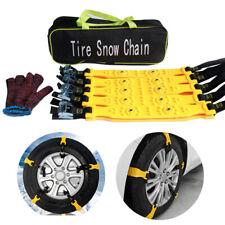 10 Pcs/set Yellow Car Tyre Anti-Skid Snow Chain Auto Van Tire Security Mud Guard