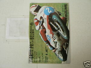 1976 GRAND PRIX BELGIUM SPA FRANCORCHAMPS 4-7-1976 PROGRAMMA,CECOTTO JOHNNY