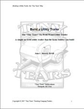 How to Build a Utility Trailer without Welding Complete Plans and Instructions