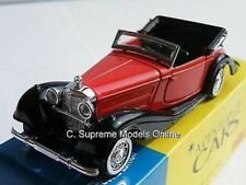 MERCEDES BENZ 540K 1/43RD SIZE RED OPEN TOP CLASSIC SPORTS VERSION PKD R0154X{:}