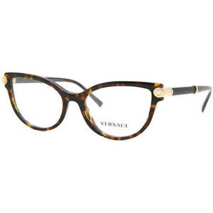 Versace Eyeglasses VE3270QA 108 Dark Havana Frame W/ RX Demo Lens CAT EYE NEW