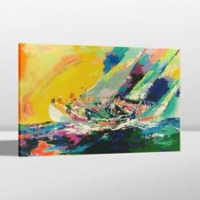 Print LeRoy Neiman Hawaiian Sailing Home Wall Art Decor Painting on Canvas 24x32