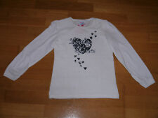 NEU Pullover Gr. 122 Shirt Langarmshirt Pulli Sweatshirt Spitze Langarm Herzen