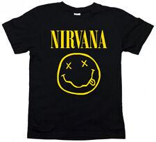 T-shirt Maglietta NIRVANA Uomo donna bambino Kurt COBAIN Smile