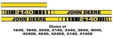More details for john deere 40 series bonnet sticker kit. decals. all models available.