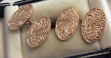 Stunning Gents Antique Edwardian Beautiful Quality 9ct Rose Gold Cufflinks Nice