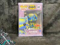 Funko Pop! #02 Batman (Blue & Yellow Art Series) Target Exclusive w/ hard stack