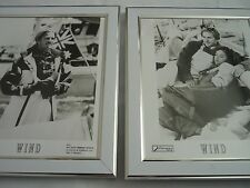 2 Original framed lobby cards Press photos Lot Wind matthew modine jennifer grey
