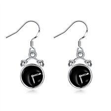 Fashion 925 Silver plated Jewelry Clock Dangle Earrings For Women E932