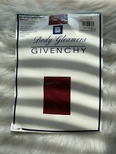 Givenchy Body Gleamers Vintage Sheer Leg Control Top Pantyhose Red Shimmery Lycr