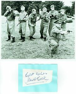 James Beck Scarce Dads Army Autograph & 8x10 Photograph AFTAL/UACC RD