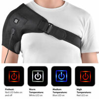 Adjustable Heated Shoulder Wrap Heating Pad Shoulder Support Brace /Cold Therapy