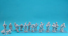 28mm WW2 German Squad 13 (10 figs)  . Bolt Action Chain of Command unpainted.