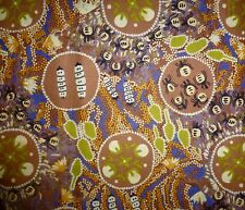 Witchery Grub Brown Aboriginal Australian Prints Quilting Fabric 1/2 metre