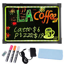 "LED Writing Message Board, 16"" x 12"" Illuminated Erasable Neon Effect Restaurant"