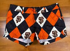 LOUDMOUTH Ladies Golf Shorts San Francisco Giants MLB Argyle SF Baseball sz 4