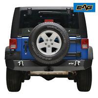 EAG Fit for 07-18 Jeep Wrangler JK Black Full Width Rear Bumper Guard
