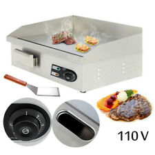 Smokeless Electric Griddle Bbq Commercial Grill Indoor Barbecue Flat Broiler