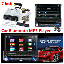 "7"" HD 1Din Touch Screen Car Bluetooth DVD Audio MP5 Player w/ Contraction Screen"