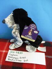 Applause Hush Puppy Black & Silver Basset Hound Beanbag Plush (310-3835)