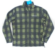 Columbia Men's Granite Mountain Plaid Full Zip Long Sleeve Fleece Jacket L (XL)