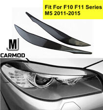 Fit For BMW 5 Series F10 F11 M5 2011-15 Carbon Fiber Headlight Eyebrow Cover