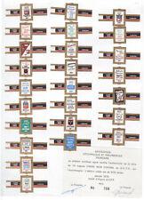 Série complète  Bague de Cigare Vitola Femme BN115399 Avpf Cadre Noir